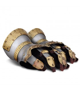 Gauntlets Churburg with decorations, gold plated