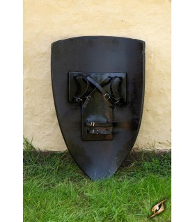 Shield templar white black, 90 x 60 cm