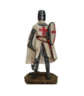 Miniature knight Templar with mace and shield