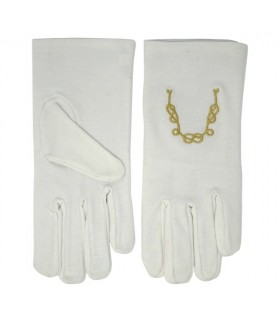 White gloves with the chain of union masonic