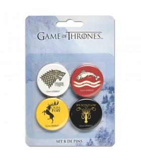Set B of 4 Pin saga of Game of Thrones