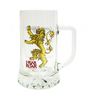 Beer mug glass Hear Me Roar Lannister Game of Thrones