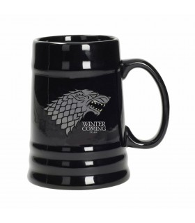 Pitcher beer Black Ceramic Stark of Game of Thrones