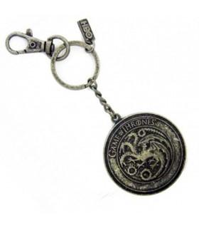 Metal key ring house Targaryen from Game of Thrones