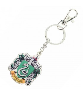 Metal key ring shield Slytherin Harry Potter