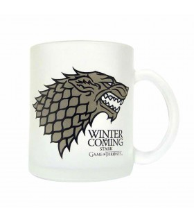 Cup glass translucent Stark, Winter is Coming, Game of Thrones