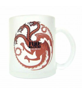 Cup glass translucent house Targaryen from Game of Thrones