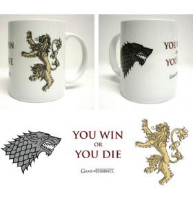 Cup Ceramic White-You Win Or You Die Game of Thrones