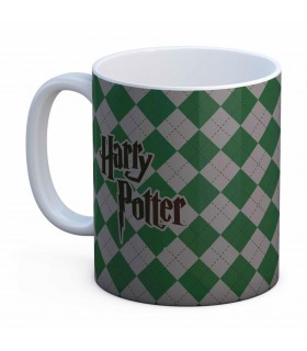 Cup Ceramic White Slytherin Harry Potter