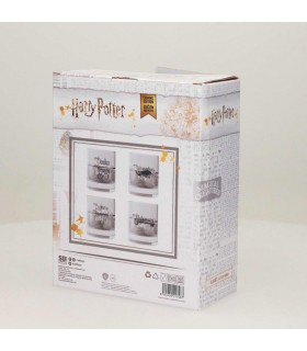 Set 4 glasses glass with the spells of Harry Potter