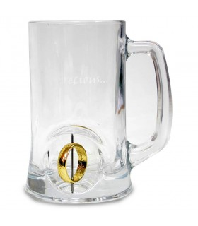 Beer mug glass with the emblem ring 3D the Lord of the Rings