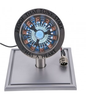 Heart of Tony Stark made of stainless steel, base-decorative light