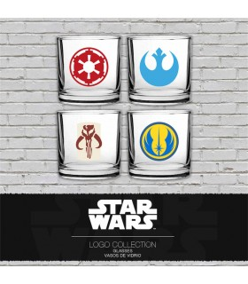 Set 4 cups classic with logos from Star Wars