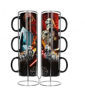 Set of 3 cups stackable ceramic Star Wars. Ep7