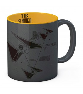 Ceramic mug-Gray-Yellow Striker of Star Wars