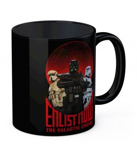 Ceramic mug Black Enlist Now Star Wars