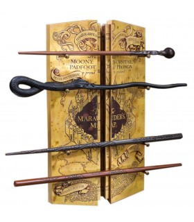 Exhibitor 4 Wands with the Map of the Marauder from Harry Potter