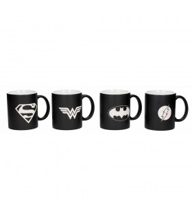 Set 4 cups of Superheroes League of Justice, DC Comics