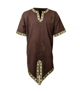 Tunica medieval embroidery, short sleeve