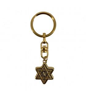 Key Damasquinado Star of David