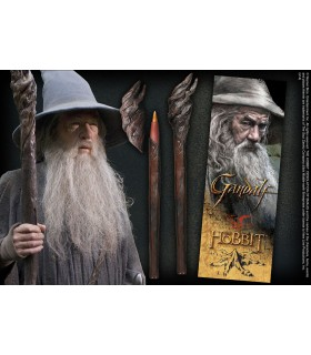 Pen and bookmark pages, staff of Gandalf, the Lord of The Rings