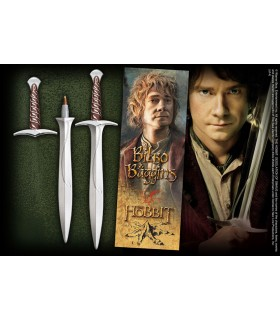 Pen and bookmark pages, sword, Dart, The Hobbit