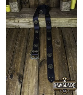 Belt medieval noble with ornaments, black