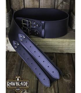 Belt medieval width Lombard, black