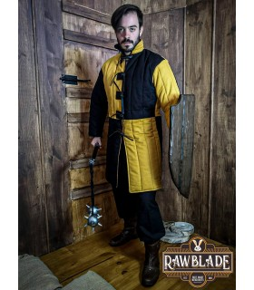 Gambesón medieval two-tone Henry, yellow-black