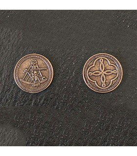 Currency of the Pirates, bronze finish
