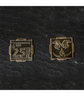 Currency Space of 25 Credits, bronze finish