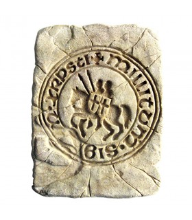 Footprint Historic Seal of the Knights Templar, 20 x 15 cm