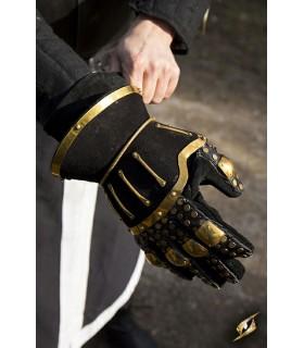 Gauntlets medieval Hourglass, black