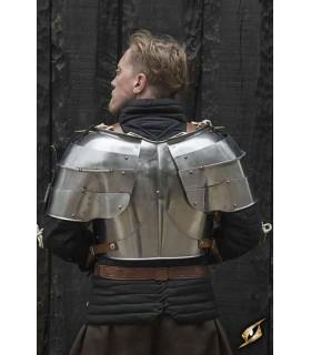 Shoulder pads medieval Milanese, polished steel