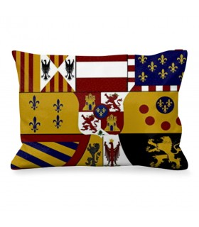 Cushion Rectangular Medieval Shield Of The Bourbons