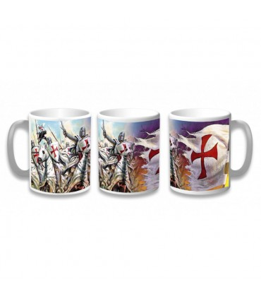 Cup Ceramic Warriors Templar
