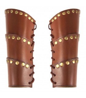 Bracelets, Medieval Arnold in brown leather