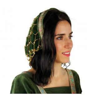 Bonnet noble in the green velvet