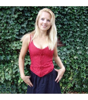 Corset medieval Gothic Melle, red