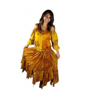Camisole medieval witch Batique, yellow