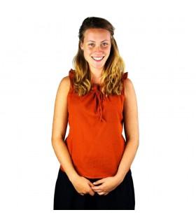 Blouse medieval sleeveless Adele, orange oxide