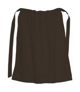 Apron medieval cotton, color dark brown