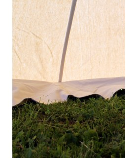 Tent medieval Herold of 4 x 4 m. cotton natural white