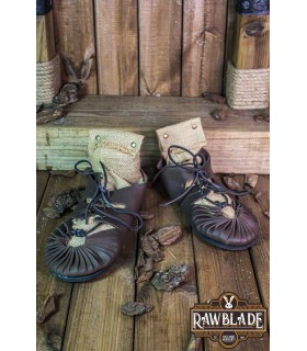 Sandals Greco-Roman Elorika, dark brown leather