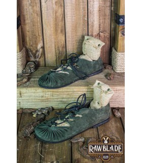 Sandals Greco-Roman Elorika, green leather
