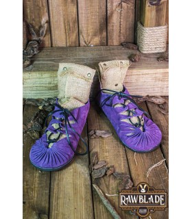 Sandals Greco-Roman Elorika, leather purple