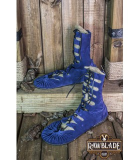 Sandals high Greco-Roman Elorika, blue leather
