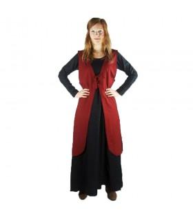 Sobrevesta medieval model Brisella, color red