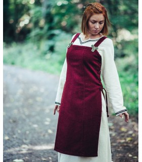 Apron medieval viking Aila, color red