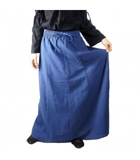 Skirt medieval model Diana, blue